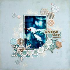 Carta Bella  Snow Day Layout