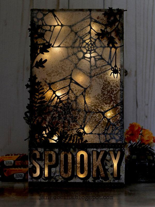 Spooky Web Vignette Tray