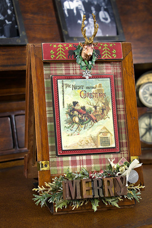 Christmas Altered Frame