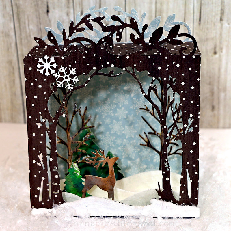 Snow Scene Shadow Box Card