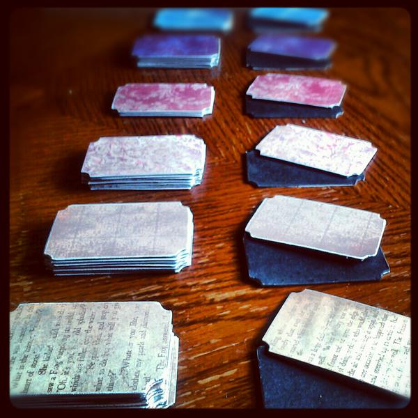My little army of blank decorative chalkboard tags.