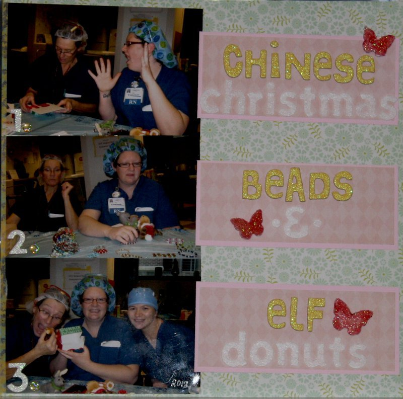 Chinese Christmas, Beads & Elf Donuts