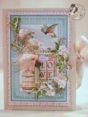 With Love - Graphic45 card
