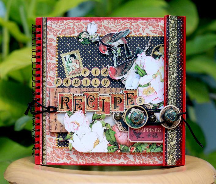 Graphic45 Easel Album Recipe Book