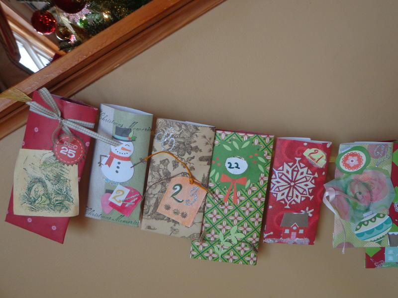 Close-up of the Christmas Countdown Pocket Calendar