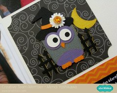 Pebbles Thirty-One Halloween Layout by Mendi Yoshikawa