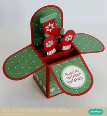 An Echo Park Christmas Cheer Box Card by Mendi Yoshikawa