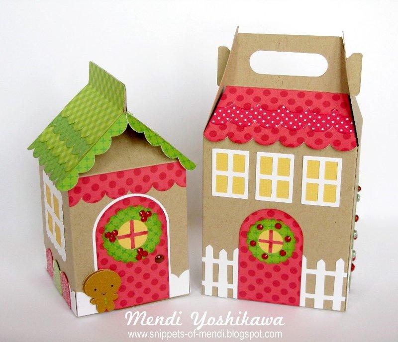 Gingerbread House Christmas Gift Boxes by Mendi Yoshikawa