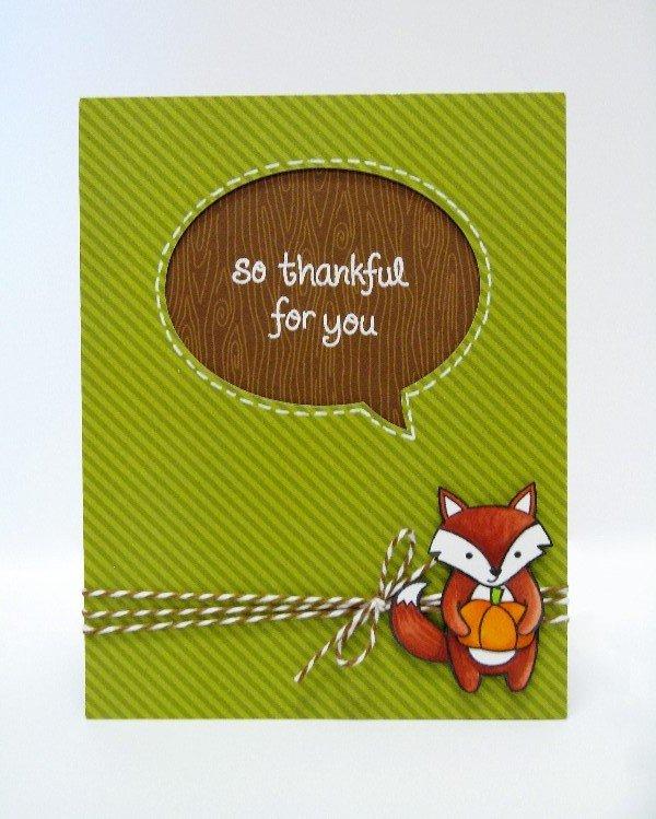 Lawn Fawn Thankful For You card by Mendi Yoshikawa