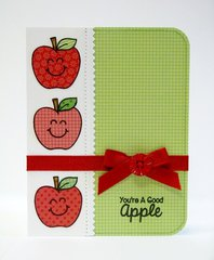 Sunny Studio School Time Apple Card by Mendi Yoshikawa