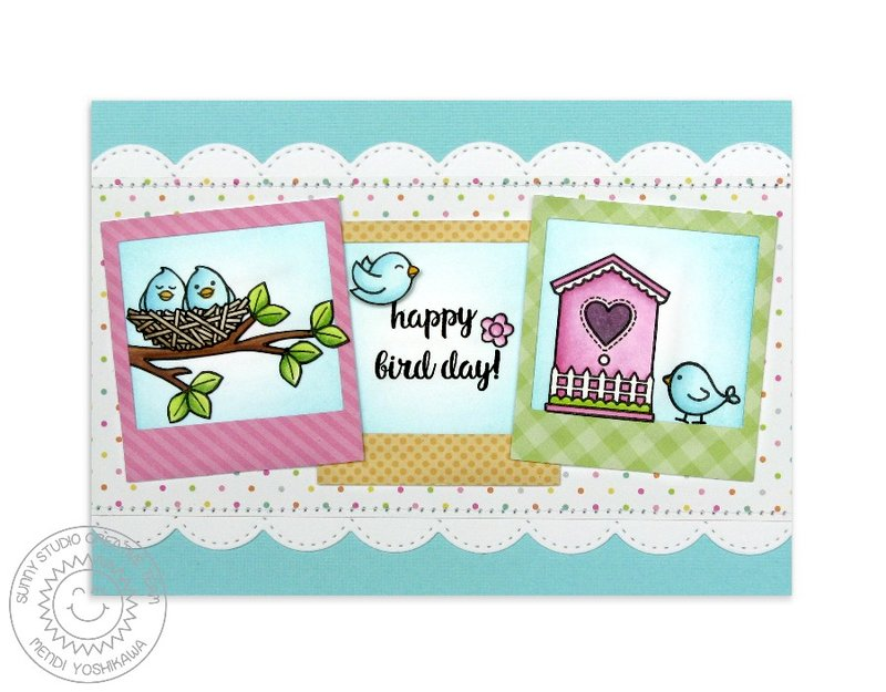Sunny Studio A Bird's Life Card by Mendi Yoshikawa