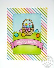 Sunny Studio A Good Egg Easter Card by Mendi Yoshikawa