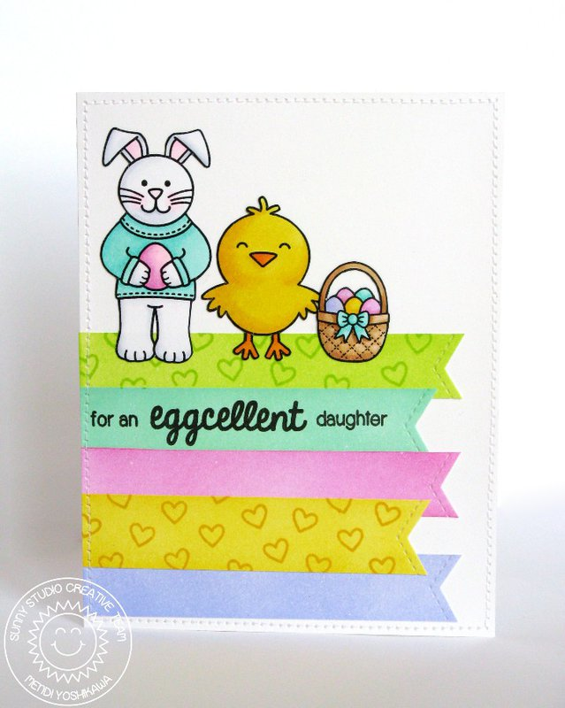 Sunny Studio A Good Egg Easter Card by Mendi Yoshikawa