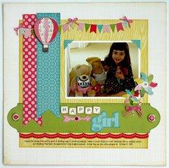 An Echo Park Sweet Girl Layout by Mendi Yoshikawa