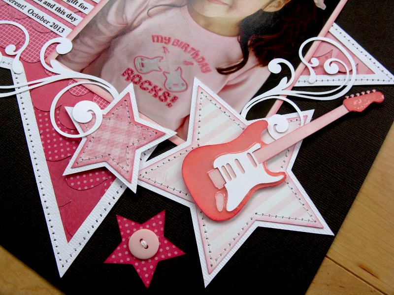 A Birthday Girl Rock Star Ombre Layout