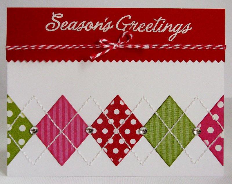 An Argyle Holiday Christmas Card by Mendi Yoshikawa