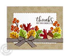 Sunny Studio Autumn Splendor Leave Card by Mendi Yoshikawa