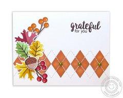 Sunny Studio Autumn Splendor Argyle Card by Mendi Yoshikawa