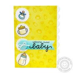 Sunny Studio Baby Bear Card by Mendi Yoshikawa