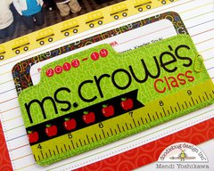Doodlebug Back To School Class Layout by Mendi Yoshikawa