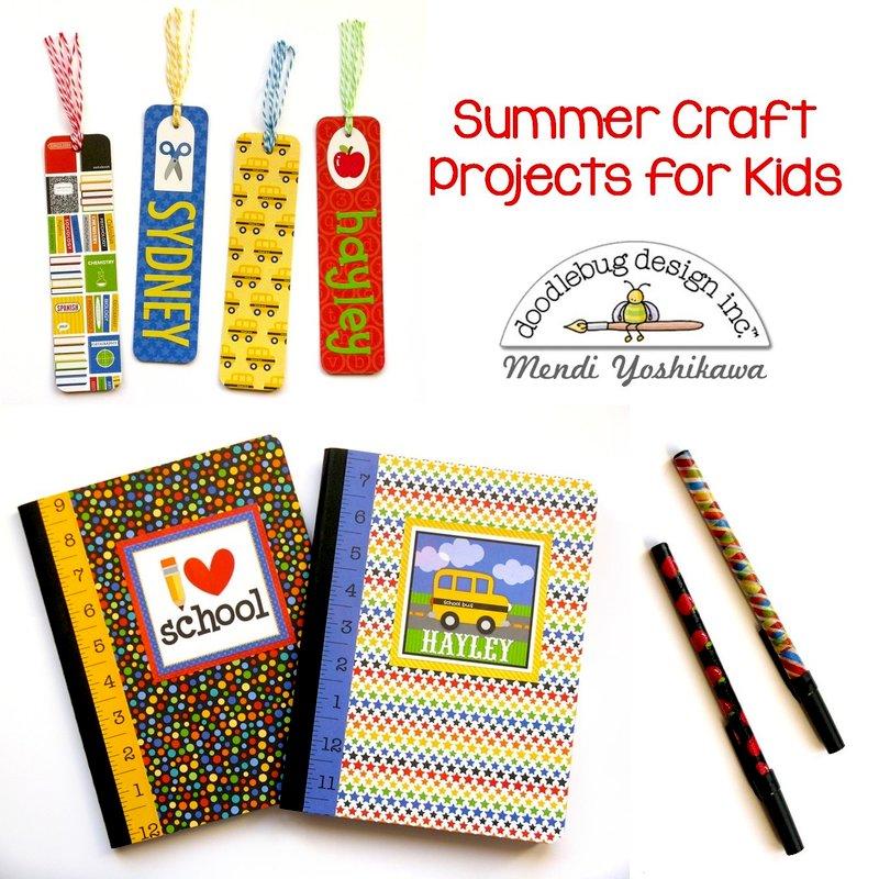 Doodlebug Back To School Notebooks, Pens & Bookmarks