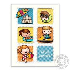 Sunny Studio Stamps Beach Babies Card by Mendi Yoshikawa