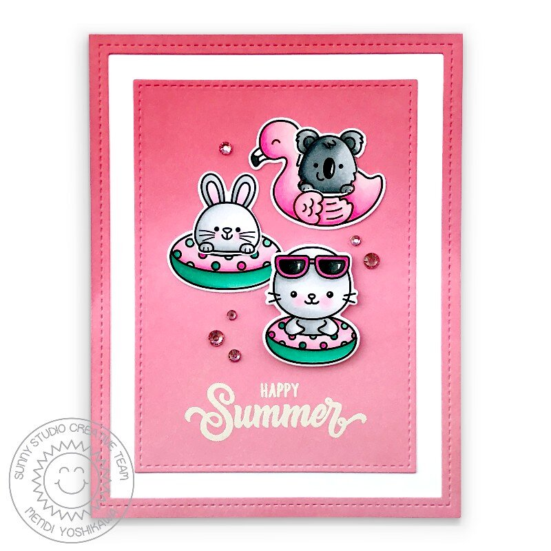 Sunny Studio Beach Buddies Card by Mendi Yoshikawa