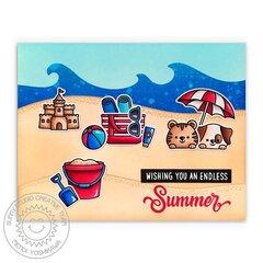 Sunny Studio Beach Buddies Card by Mendi Yoshikawa