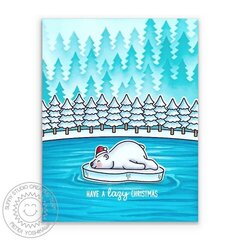 Sunny Studio Bear Hugs Card by Mendi Yoshikawa