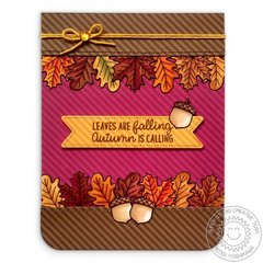 Sunny Studio Beautiful Autumn Leaves Card by Mendi Yoshikawa