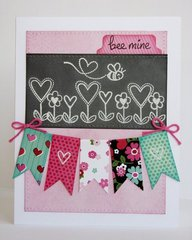 A Lawn Fawn Valentine's Day Card by Mendi Yoshikawa