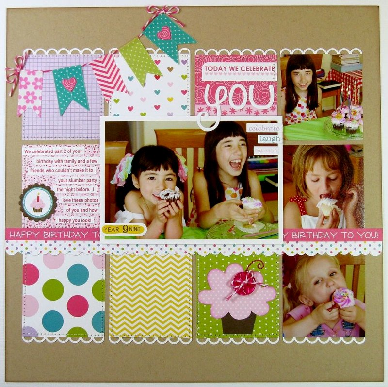 A Bella Blvd Birthday Girl Layout by Mendi Yoshikawa