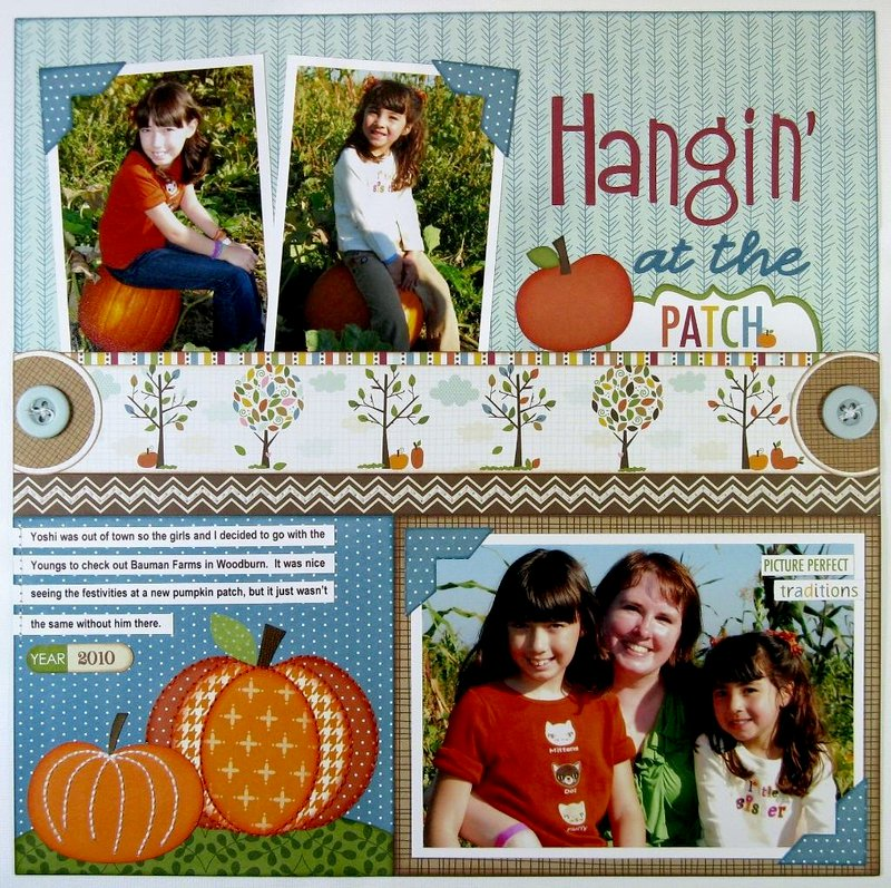 Bella Blvd.Thankful Pumpkin Patch Layout by Mendi Yoshikawa