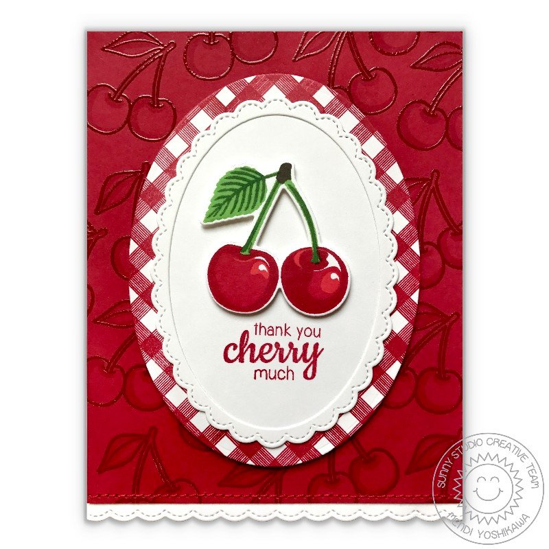Sunny Studio Stamps Berry Bliss Card by Mendi Yoshikawa