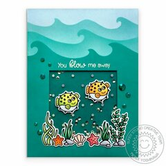 Sunny Studio Stamps Best Fishes Card by Mendi Yoshikawa