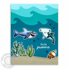 Sunny Studio Stamps Best Fishes Card by Mendi Yoshikawa