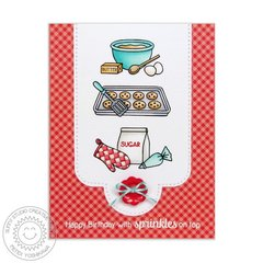 Sunny Studio Blissful Baking Card by Mendi Yoshikawa