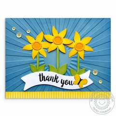 Sunny Studio Stamps Botanical Backdrop Thank You Card by Mendi Yoshkawa