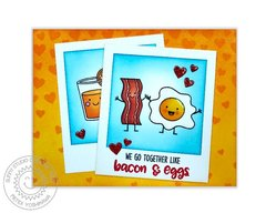 Sunny Studio Breakfast Puns Love Card by Mendi Yoshikawa