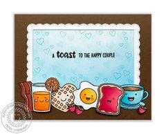 Sunny Studio Breakfast Puns Love Card by Mendi Yoshikawa