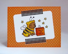 A Lawn Fawn Critters Halloween Card by Mendi Yoshikawa
