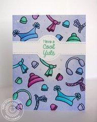 Sunny Studio Bundled Up Penguin Card by Mendi Yoshikawa