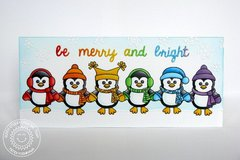Sunny Studio Bundled Up Penguin Card by Mendi Yoshikawa