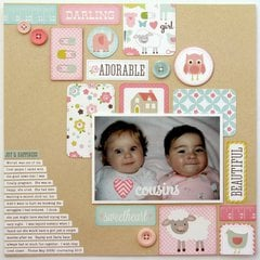 An Echo Park Bundle of Joy Baby Girl Layout by Mendi Yoshikawa