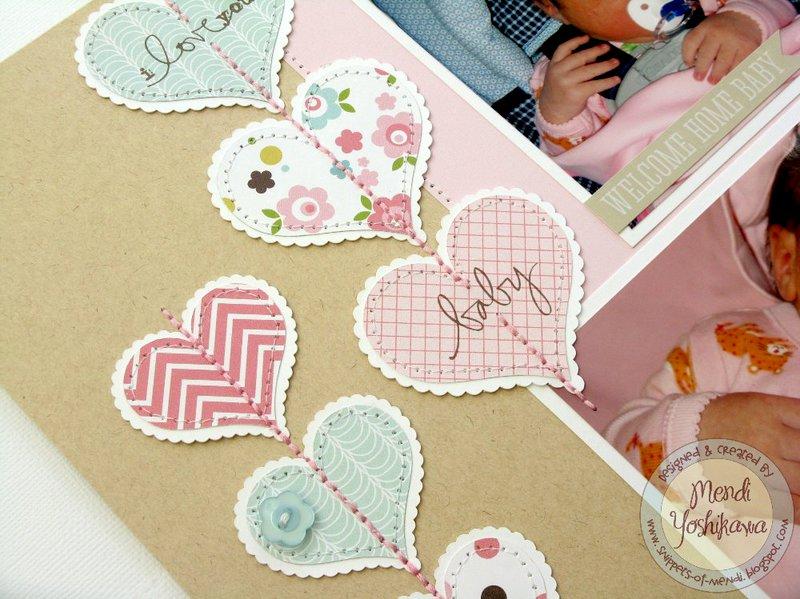 An Echo Park Bundle of Joy Baby Girl Layout