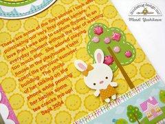 Doodlebug Bunnyville House layout by Mendi Yoshikawa