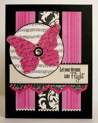 An Echo Park Canvas Butterfly Card by Mendi Yoshikawa