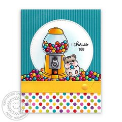 Sunny Studio Candy Shoppe Card by Mendi Yoshikawa