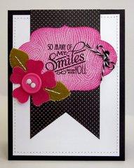 A Papertrey Ink Canvas Flower Card by Mendi Yoshikawa