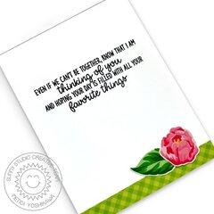 Sunny Studio Captivating Camellias Inside Card by Mendi Yoshikawa
